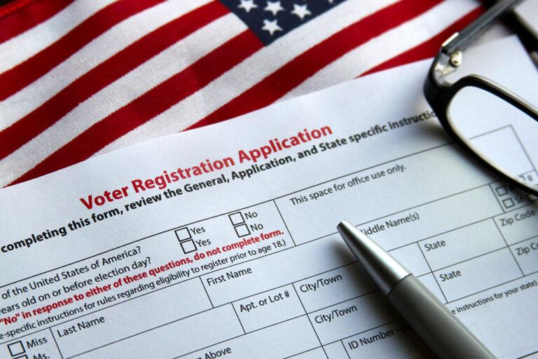 photo - Voter Registration Application