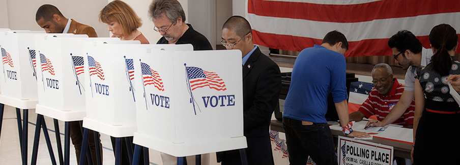 photo - voters at polls