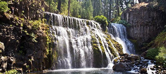 photo - Waterfall on the McCloud River near Mount Shasta, California