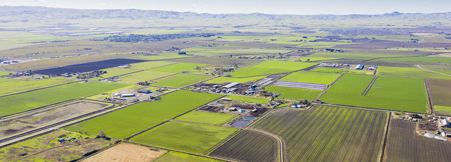 photo - Aerial View of Farmland In California Central Valley