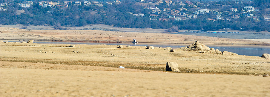 photo - Low Water Drought Conditions At Folsom Lake California