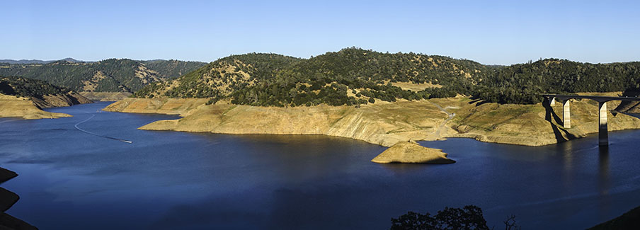 photo - Low Water Level at New Melones Lake, California