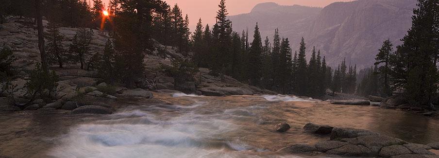 photo - Sunset Over the Tuolumne River