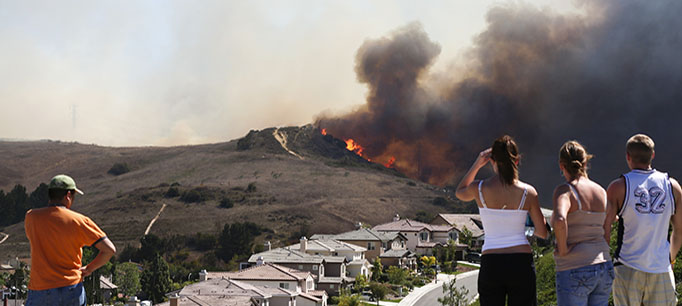 photo - Wildfire Threatening Homes