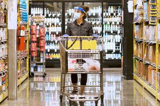 photo - Woman Grocery Shopping during Coronavirus Pandemic