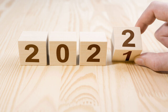 photo - Wooden Cubes Change from 2021 to 2022
