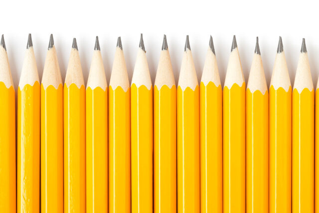 photo - Yellow Pencils in a Row