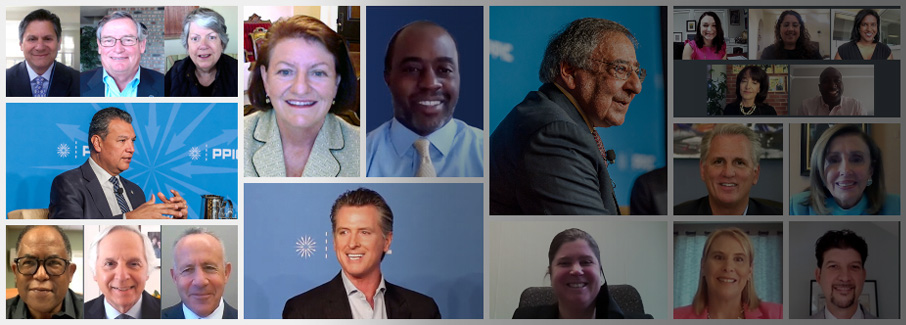Image: a selection of participants for the 2020 Speaker Series on California's Future